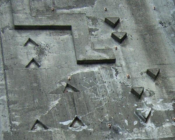 初期の人工壁のホールド